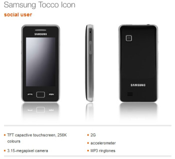 Samsung Star II is being re-branded as the Samsung Tocco Icon for Orange UK