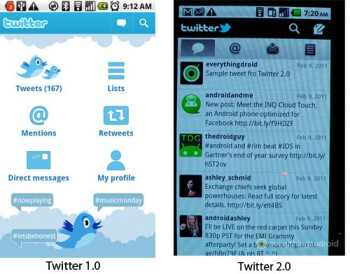 Video shows off the updated looks of the upcoming Twitter 2.0 app for Android