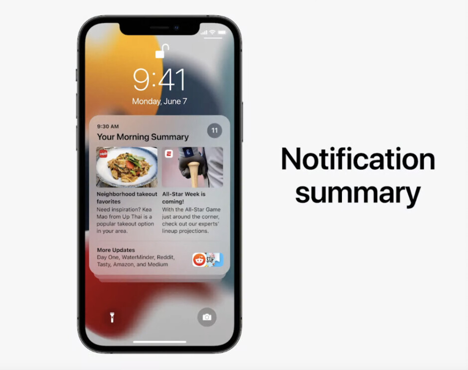 Collapsed view - Notification Summary - WWDC 2021: everything new Apple announced