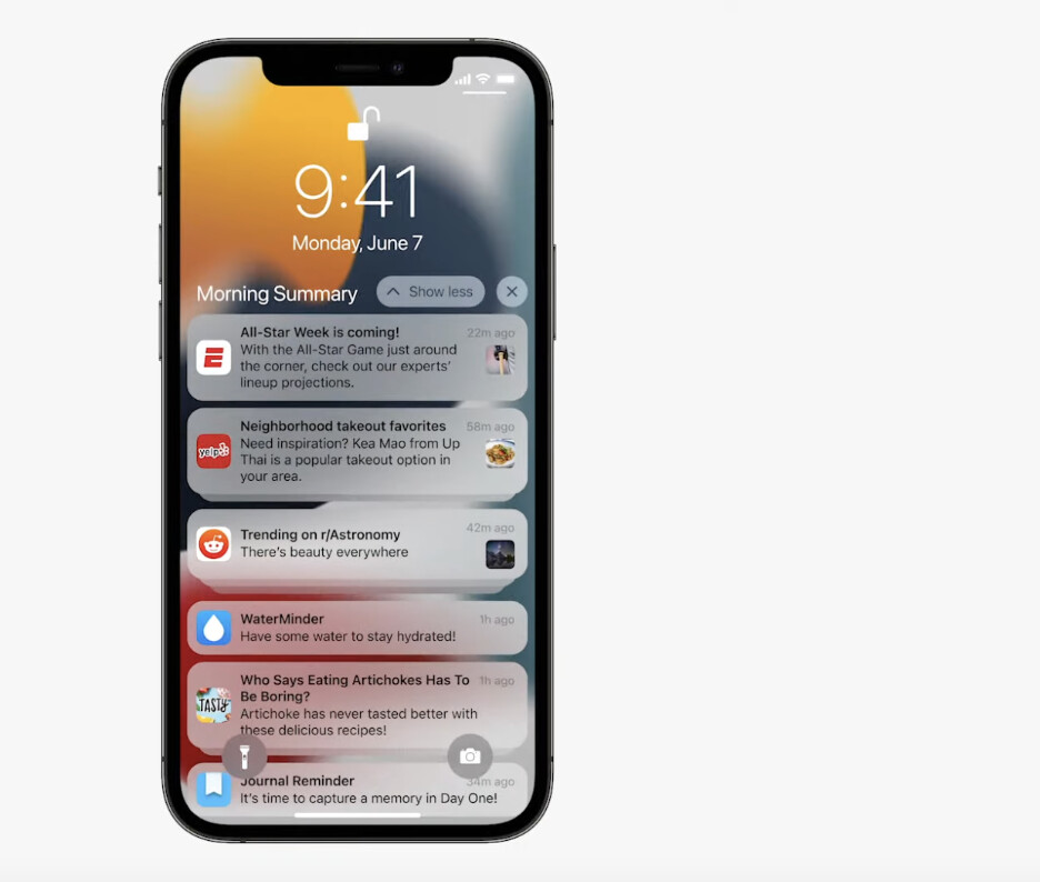 Expanded view - Notification Summary - WWDC 2021: everything new Apple announced