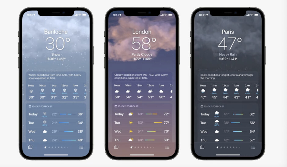 Redesigned Weather - WWDC 2021: everything new Apple announced