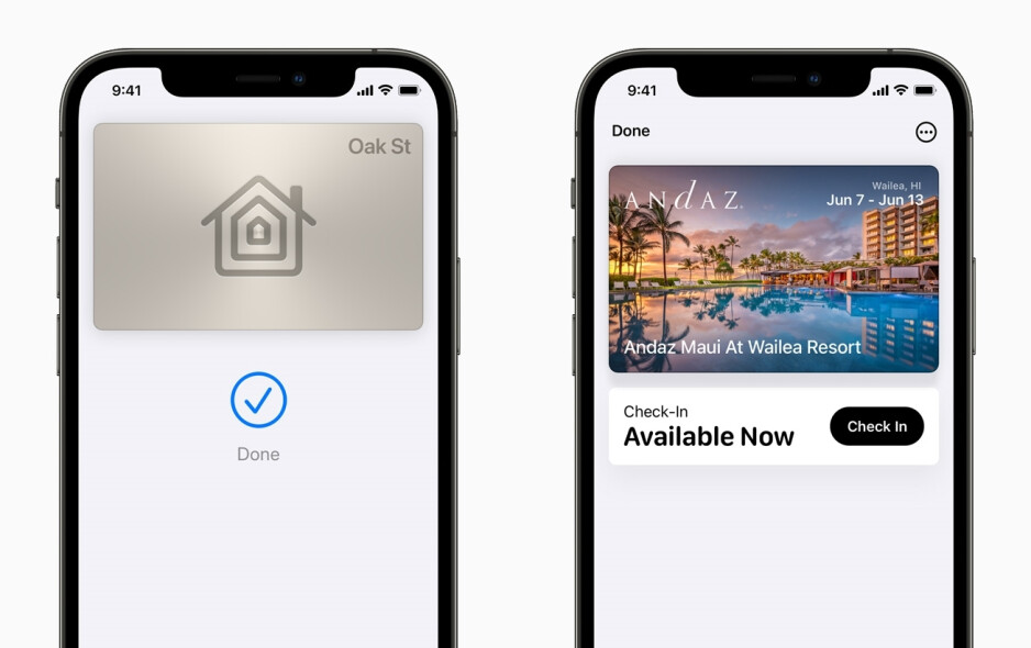 Smart door locks will be able to unlock your home with your iPhone. Hotels and B&Bs will also support the feature. - Apple Wallet will support IDs and door locks with iOS 15