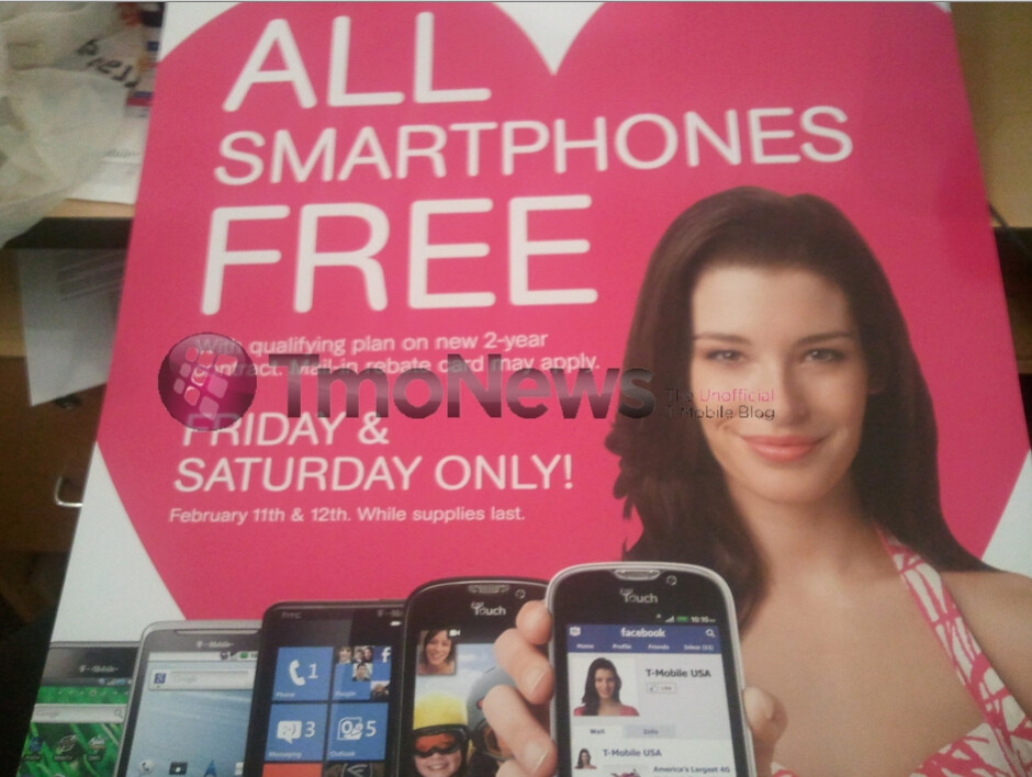 """T-Mobile's """"All Smartphones Free"""" promotion is good today & tomorrow only"""