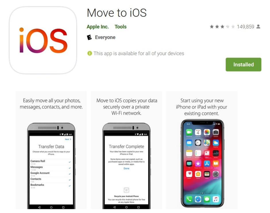 Apple developed Move to iOS as a way to get Android users to switch to iOS - Apple tries to persuade Android users to switch with improved Move to iOS app