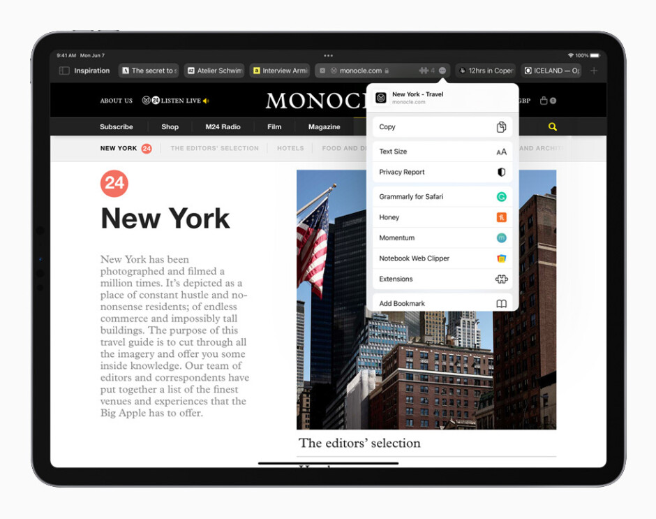 Safari on iPadOS 15 preview: What's new and how to refresh a page