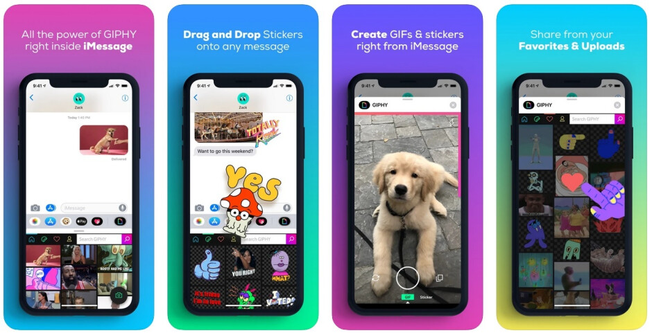 Giphy for iMessages - Giphy's Clips now integrated with Apple's iMessages, Google's Android QWERTY