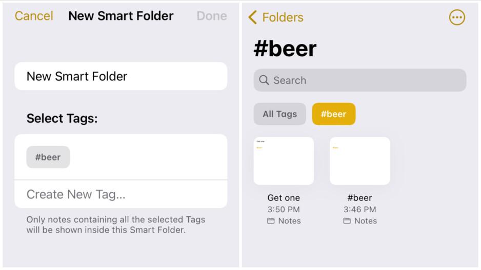 Las etiquetas le permiten localizar sus notas más rápido que nunca.  - iOS 15 y iPadOS 15 hacen que las notas de Apple sean más notables que nunca: todas las funciones nuevas