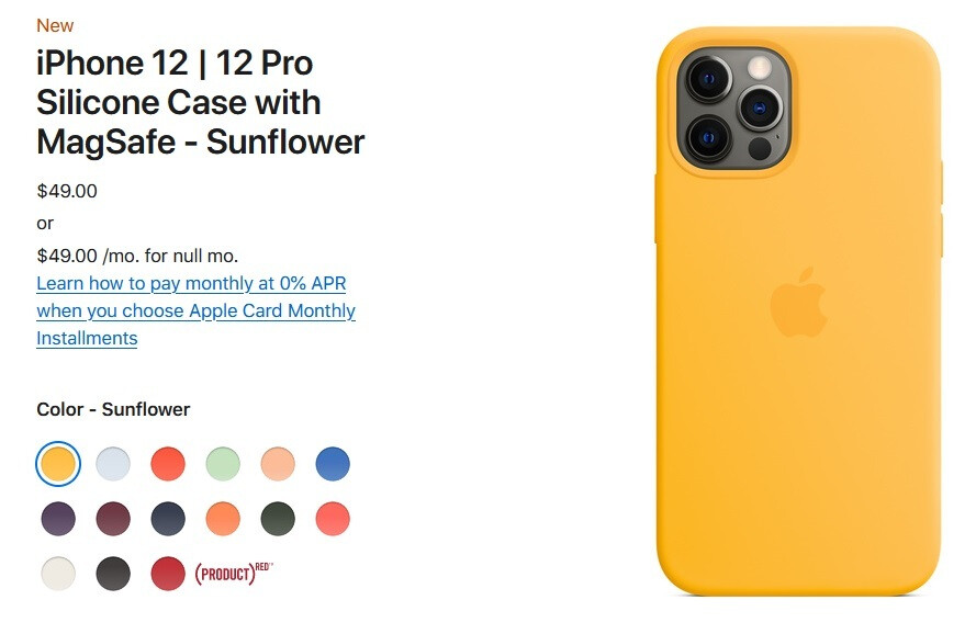 Apple iPhone 12 new MagSafe silicone case in Sunflower - Just in time for summer, Apple unveils three new colors for the 5G iPhone 12 series' silicone cases