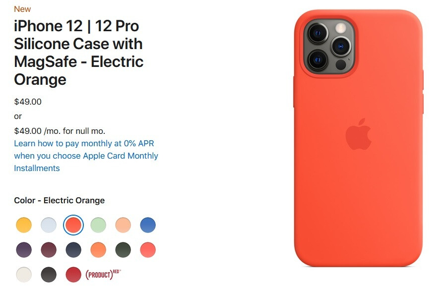 Apple iPhone 12 new MagSafe silicone case in Electric Orange - Just in time for summer, Apple unveils three new colors for the 5G iPhone 12 series' silicone cases