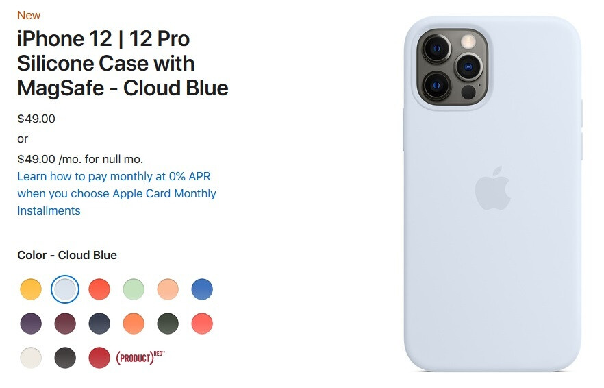 Apple iPhone 12 new MagSafe silicone case in Cloud Blue - Just in time for summer, Apple unveils three new colors for the 5G iPhone 12 series' silicone cases