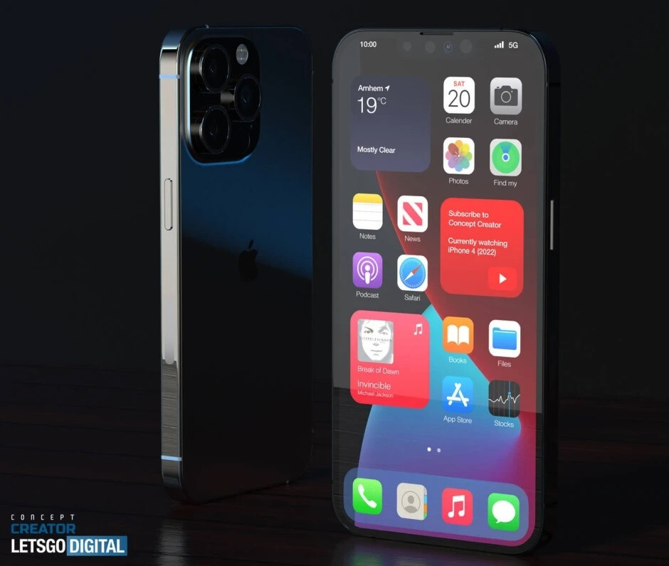 Apple iPhone 13 Pro render - Kuo: Huawei ban, improved specs will lead to strong iPhone 13 5G shipments