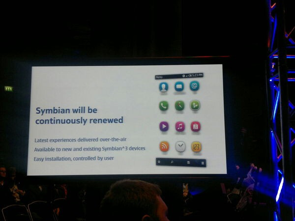 Symbian phones with 1GHz chipsets and the UI overhaul are still on the menu