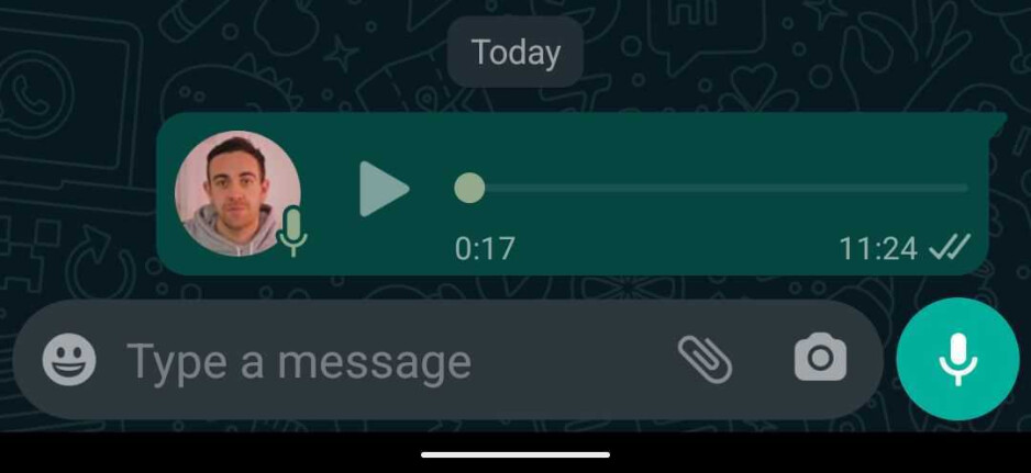 Previous look - WhatsApp for Android beta update brings a new voice note look and the feature to forward sticker packs