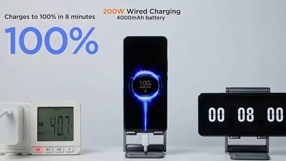 Xiaomi announced a new technology that could charge a smartphone battery from 0% to 100% in 8 minutes - University is developing a system that could charge your phone in only five minutes