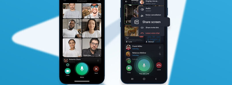 Telegram update: you will now be able to make a group video call, share your screen, and use animated chat backgrounds