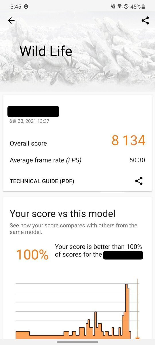 AMD Exynos GPU benchmark - image credits - IceUniverse - Alleged benchmark of AMD Exynos GPU shows it's on par with Apple's A14