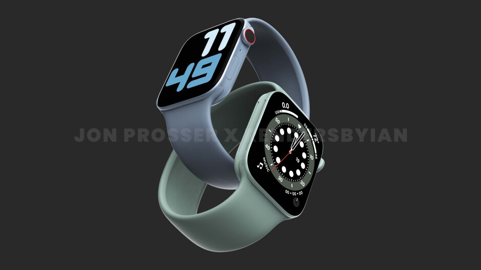 Leaked Apple Watch Series 7 renders, which show a flat design, reminiscent of... well - all recent Apple products. - Apple's masterplan to replace your wallet, documents, and keys with Apple Watch