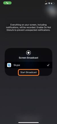 Tap-Start-Broadcast-Skype