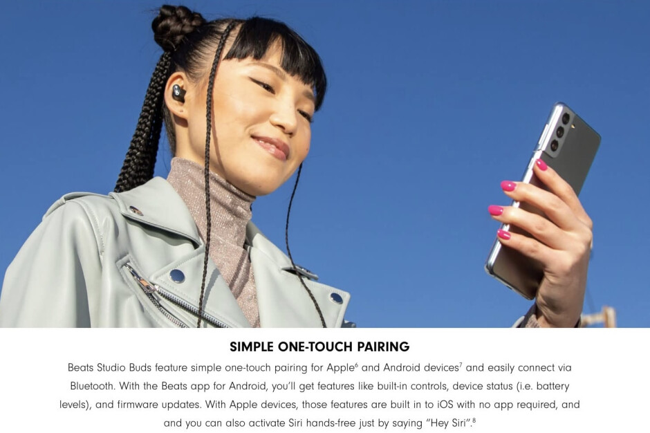As seen on Amazon.com... - Unprecedented: Apple uses Samsung's Galaxy S21 to advertise Beats Studio Buds