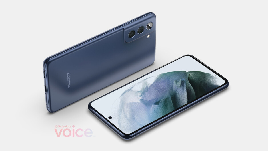 Samsung Galaxy S21 FE 5G CAD-based render - Check out the colorful Galaxy S21 FE 5G in this leaked marketing render