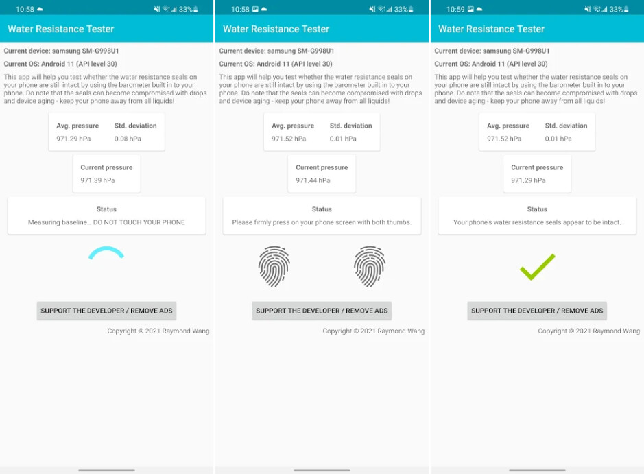 The app's water resistance testing steps - This new app can test your smartphone's water resistance