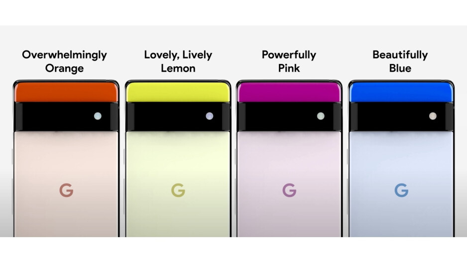 The Pixel 6 and some alleged color options. - Yes, the Google Pixel 6 will be Android's iPhone