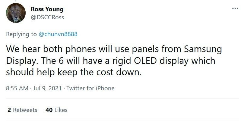 O CEO da DSCC, Ross Young, diz que o Pixel 6 e 6 Pro usará telas feitas pela Samsung - o Google prefere o design do Pixel 6 5G pelo custo