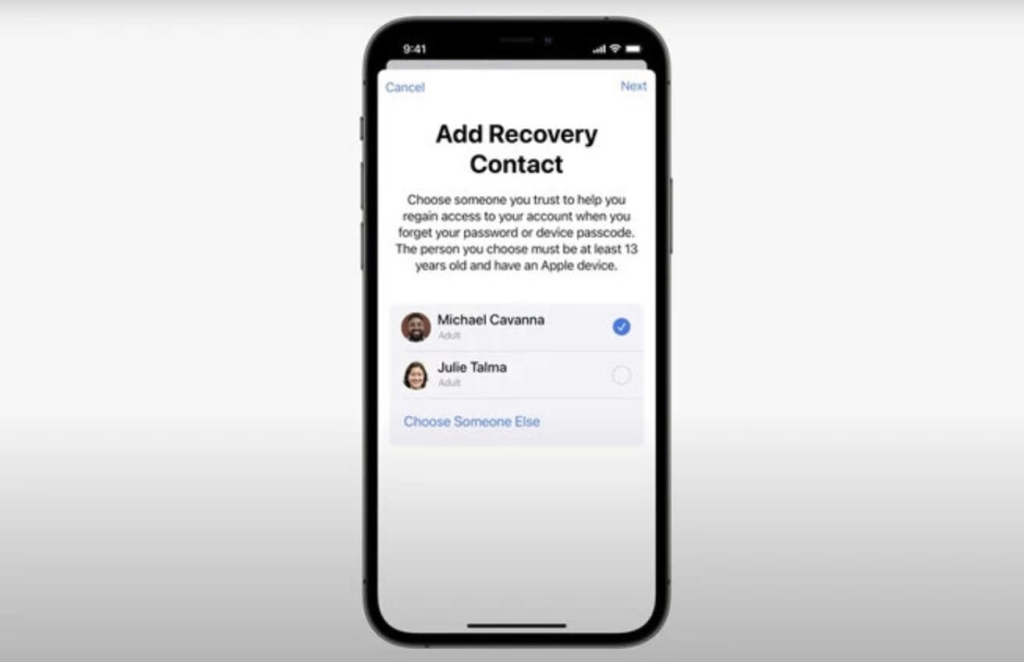 Your Recovery Contact is a trusted pal who can help you when you have forgotten your Apple ID password - New feature in iOS 15 allows iPhone users to reset their Apple ID password by calling a trusted friend