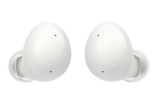 Galaxy Buds 2 in white - Samsung Galaxy Buds 2 app reveals yellow color scheme, battery capacity and new features