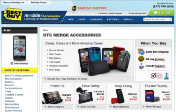 Best Buy's site shows off a handful of accessories for the Motorola DROID Bionic & HTC Merge