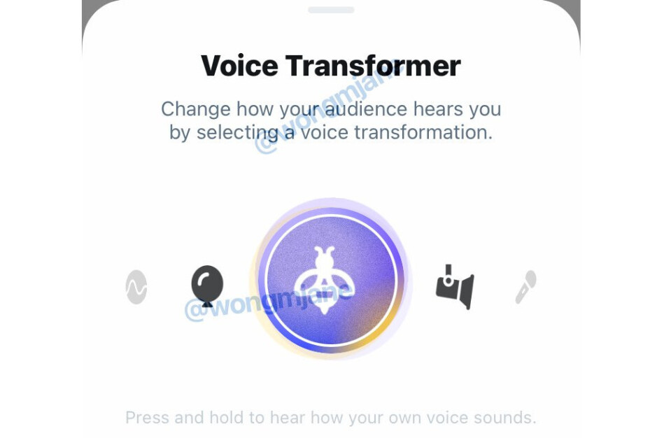Revealed by Jane Manchun Wong - Twitter working on voice effects to change the way you sound for voice chat feature Twitter Spaces