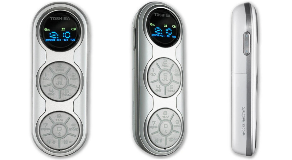 This Toshiba MP3 player phone comes with a light show - Odd Phone Mondays