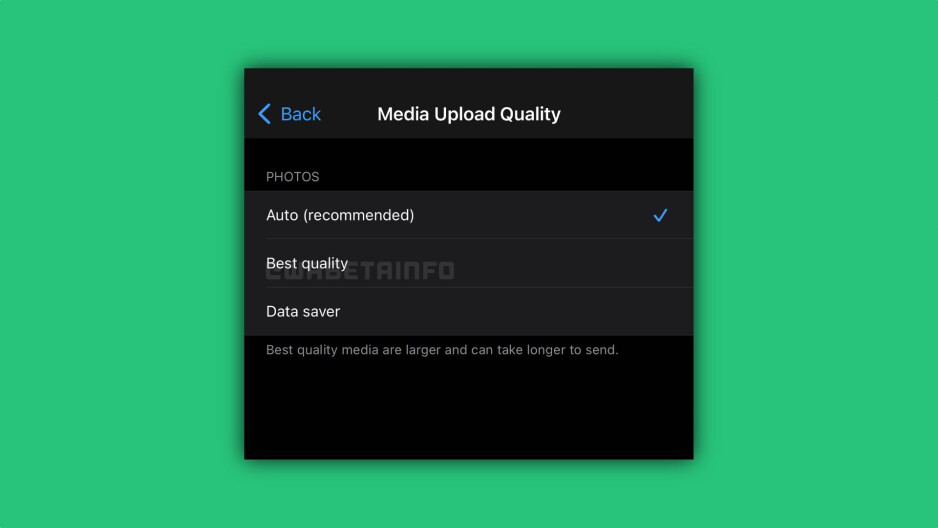WhatsApp beta for iOS's new image quality options - WhatsApp beta for iOS introduces the option to send better quality images via the chat service
