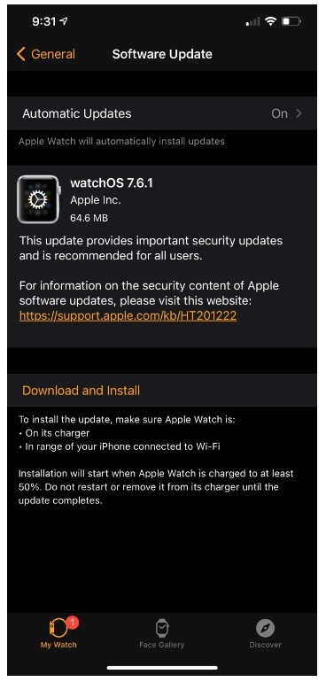 Apple urges owners of the Apple Watch to install watchOS 7.6.1 - Apple releases watchOS 7.6.1 to fix serious security issue