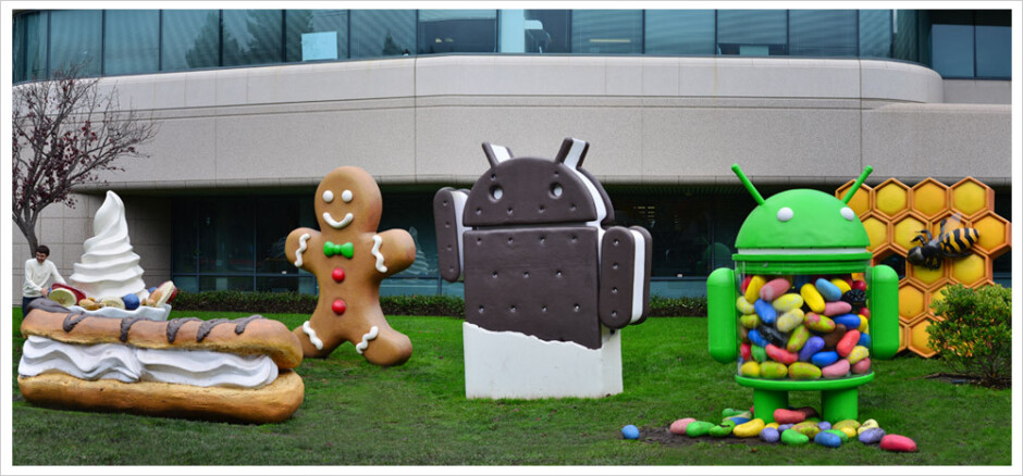 Past versions of Google, including Gingerbread, are memorialized at the Googleplex in Mountain View, California - Phones running Android 2.3.7 or older will be banned from Google accounts starting next month
