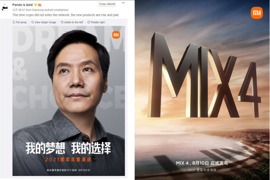 Xiaomi confirms launch of Mi Mix 4, new tablets next week