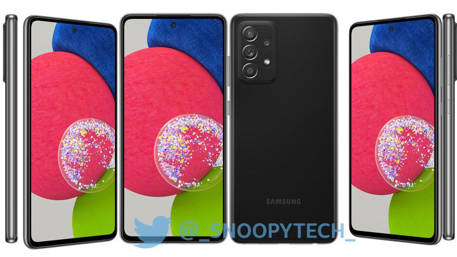 Samsung Galaxy A52s - Samsung Galaxy A52s high-res renders leak ahead of launch