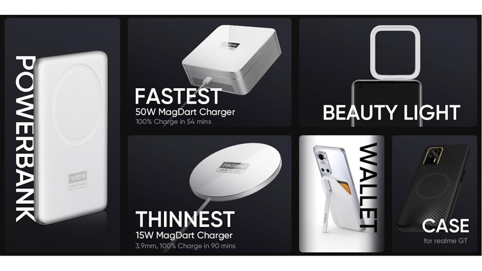Realme is ready with a full lineup of MagSafe-like accessories, but doesn't have a compatible phone?!  - Help! Android phones now copying Apple's flat iPhone 12 design & MagSafe
