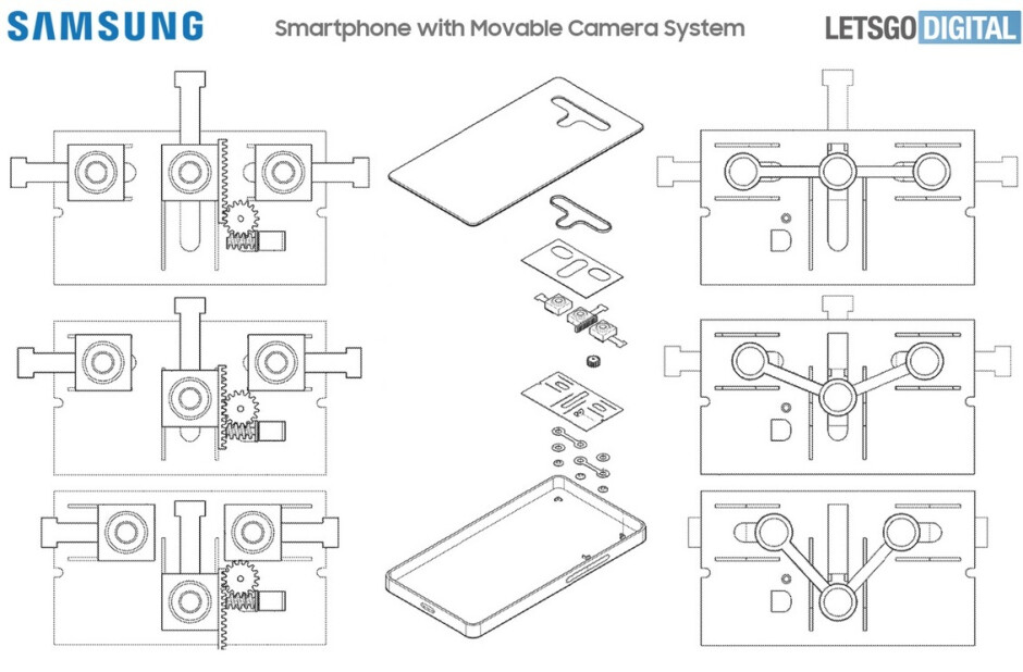 Images from Samsung's patent application. Credit LetsGo Digital - Samsung Galaxy S22 line might use this system to improve low-light photos and portraits