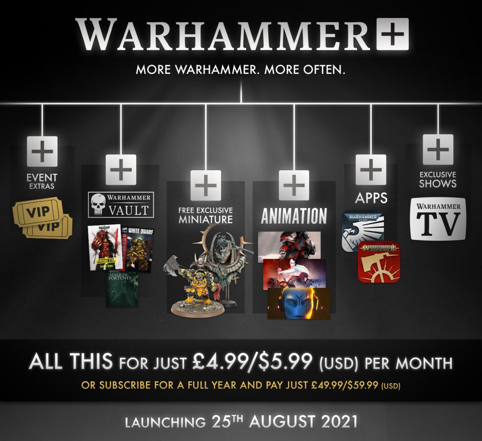 Warhammer subscription streaming service coming to Android and iOS in August