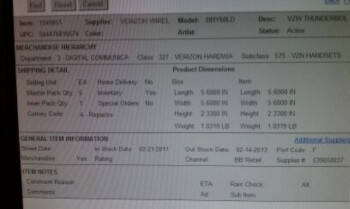 Best Buy inventory system says the HTC ThunderBolt is to be released on February 21