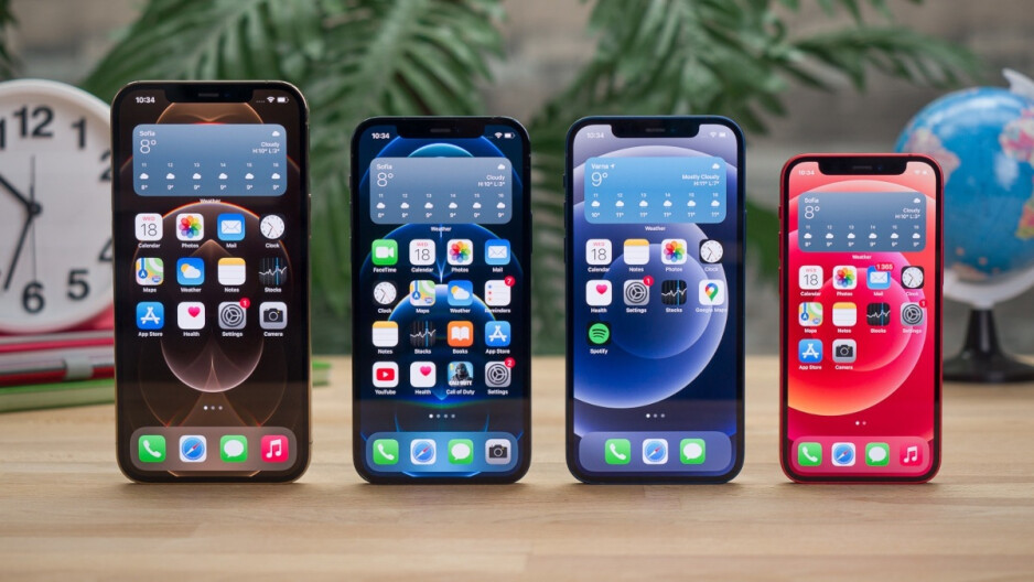 The first 5G Apple iPhone models, the iPhone 12 family. - By 2025, half of the world's smartphone sales could consist of 5G enabled handsets