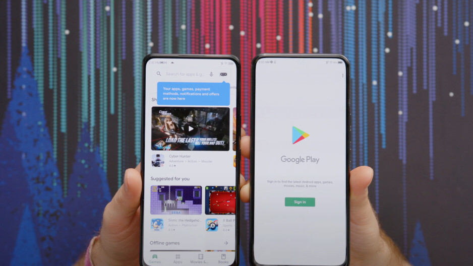 The ZTE Axon 30's UDC (left) is hidden extremely well, compared to the ZTE Axon 20's one (right). Image courtesy of ShortCircuit (YouTube). - It's happening! Under-display camera phones are finally here, but not all are created equal