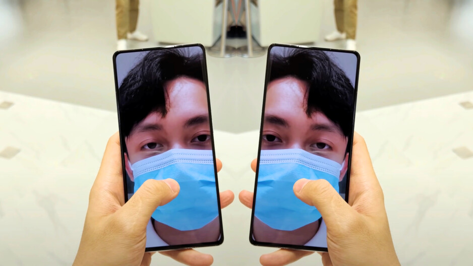 The Mi Mix 4's UDC is pretty much just as well masked as the one of the Axon 30 5G. Image courtesy of Sami Tech Tips (YouTube). - It's happening! Under-display camera phones are finally here, but not all are created equal