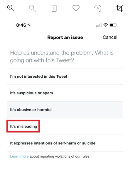 Twitter is testing a way for users to flag misleading tweets - Twitter users can now report misleading tweets