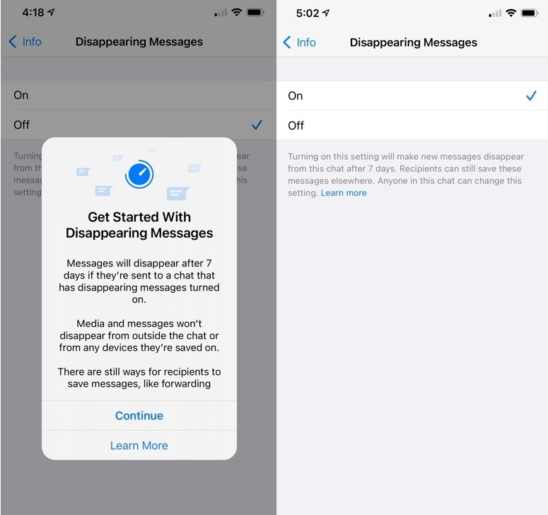 WhatsApp users can currently have selected chats disappear after seven days - Galaxy Z Fold 3, Galaxy Z Flip 3 to get first crack at updated WhatsApp feature