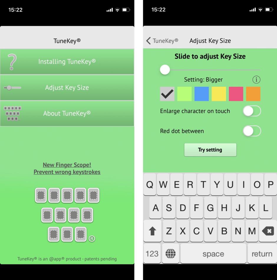 How to make iPhone keyboard bigger