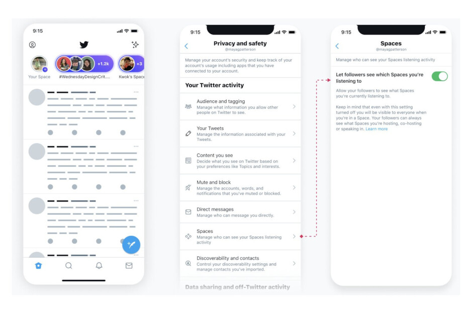 Twitter may display your Twitter Spaces auditor status