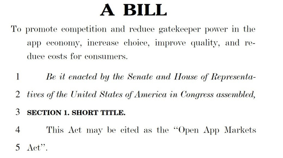 U.S. lawmakers are trying to make the Open App Markets App the law - Did Apple just allow reader apps to bypass the 30% Apple Tax?