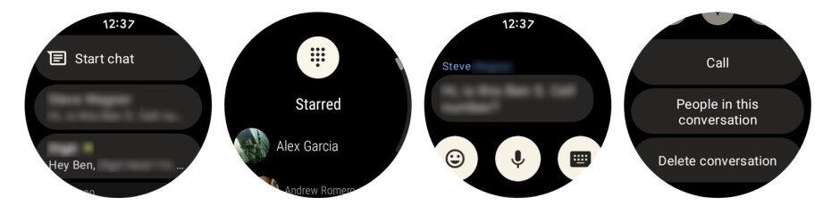 New Material You look for Google Messages in Wear OS 3. Credit-9to5Google - Google Messages gets redesigned in Wear OS